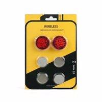 rote led blinkende sicherheitsleuchte großhandel-LOONFUNG LF141 Wireless LED Offene Tür Warnlicht Sicherheit Vermeiden Crash Dekorative Anzeige Signal Blitzlicht Licht 2 teile / los