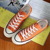 ingrosso scarpe della corea del sud-Newest Spring and Summer Women Canvas Shoes 1970s Orange Retro Unisex Casual Shoes South Korea Ulzzang Street Sneakers