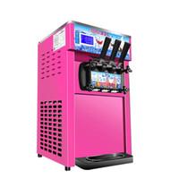 máquinas de gelo macio venda por atacado-BEIJAMEI três sabores portátil Soft Serve Ice Cream Máquina 1200W Comercial Elétrica Ice Cream que faz o preço