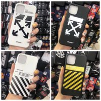 Wholesale Off Stripes Graffiti Phone Case For iPhone Pro max x xs max xr Plus Shell Black White Rear Cover designer Arrow Shell TPU A01