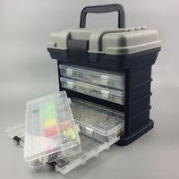 big box fisch großhandel-Tragbare 5 Schicht Big Fischköder Köder Haken Hand Organizer + 4 Layer-Removable-Gerät-Kasten-Köder-Köder Werkzeug-Kasten