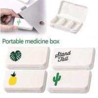 médico, pílula, armazenamento, caixa venda por atacado-3 Grids Portátil Pill Box Medicina Titular Organizador De Armazenamento Container Caso Pill Box Splitters