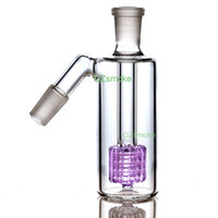 Wholesale smoking pipes accessories resale online - 14mm Ash Catcher degress Glass Bong Ashcatcher Water Pipes Catchers small mini bongs dab oil rig Ashcatchers smoking accessories GA