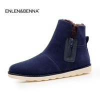 ingrosso belle scarpe di gomma-Nice Men Boots 28-55 Winter Boots Men Warm Shoes Snow Casual With Short Plush Stivaletti High Top Rubber Zipper Men Shoes