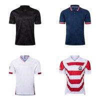 camisa do rugby do vintage venda por atacado-2020 Vintage Início Rugby Jersey fashion 19 20 Top Quality Rugby Jersey casuais de manga curta camisas S-3XL