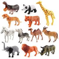 aslan bebek toptan satış-Zoo Hayvan Modeli Action Figure Zoo Parkı Simülasyon Kaplan Aslan Panada Kanguru Modelleri Leraning Eğitici Oyuncak Çocuklar Için bebek lol