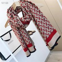 Wholesale cotton wrapping paper resale online - High Quality Cashmere Designer Woman Soft Lamé Scarf Luxury Four Seasons Style Long Shawl Double sided Printing With Original Paper Bag