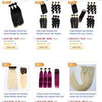 saç uzantıları fabrika toptan satış-Vizon Virgin İnsan Saç Paketler İşlenmemiş Brezilyalı Hint Malezya Insan Saç Örgüleri Uzantıları Fabrika
