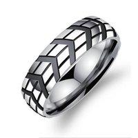 Wholesale Men s Silver Stainless Steel Cool Motorcycle Rings Biker Jewelry US