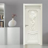 водонепроницаемые обои оптовых-3D Wallpaper European Style Embossed Flowers Murals Living Room Kitchen Door Sticker PVC Self Adhesive Waterproof Wall Paper 3 D