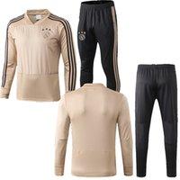 kits juveniles al por mayor-Traje de entrenamiento de fútbol tailandés de calidad 2019 ajax kits para adultos 19 suéter HUNTELAAR ZIYECH DOLBERG NOURI KLUIVERT Ajax fútbol juvenil