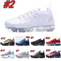 meias top tênis venda por atacado-Nike Air TN Plus 2019 Vapors Designers TN Plus Azeitona Em Prata Metálica Sapatos de Prata Dos Homens Sapatos Para Macho Sapato Maxes Pack Triplo Preto Sapatos Casuais