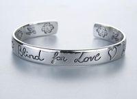 Wholesale silver couples bracelets resale online - Classic Luxury Designer G Style Women Bracelet Blind For Love Sterling Silver Bracelt Flower Heart Bangle Bracciali Couple Jewelry Gift