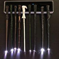 Glow Potter LED Magical Wands Dumbledore Ron Hermione Voldemort Light UP Magic Wands Hogwarts Magic Props