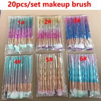 göz kamaştırıcı parıltı toptan satış-Makyaj fırçalar 20 adet 3D Dazzle Glitter Vakfı Pudra Makyaj Fırçalar Profesyonel Makyaj Fırça Seti Allık Göz Farı MakeupBrush