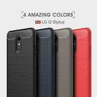 Wholesale soft q resale online - Brushed Motomo Soft TPU Case For LG G7 Q7 Q Stylus K10 K8 Q6 V40 V30 V30S G6 Ultra thin Vertical Carbon Fiber Slim Flexible Phone Cover