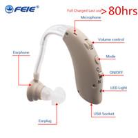 amplificador auxiliar de ouvido recarregável venda por atacado-Aparelhos para idosos Aparelhos Auditivos Recarregáveis Amplificadores Auditivos S-25 Amplificador de Ouvido Surdo Poder Ouvido com plugue DA UE Frete Grátis