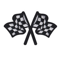 Wholesale car embroidered patches for sale - Group buy Embroidered Patch Racing Car Flags Sew Iron On Embroidery Patches Badges For Bag Jeans Hat T Shirt DIY Appliques Craft Decoration