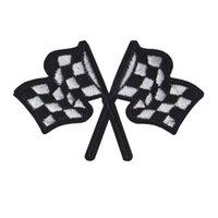 parches bordados banderas al por mayor-Parche bordado Banderas del coche de carreras Cosa Hierro En Parches Bordados Insignias Para Bolsa de Jeans Sombrero Camiseta Apliques de DIY Decoración Craft