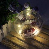 luzes redondas da árvore da bola venda por atacado-Energia Solar Pendurar Lâmpada Padrão Rodada de cobre bola LED Árvore de Natal Luz Início Quarto Courtyard luzes da decoração