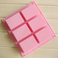 Wholesale rectangle soap mould for sale - Group buy 150pcs Rectangle Soap Mold Silicome Rubbber Pink Color Durable Printing Heat Resistant High Quality Baking Moulds SN3068