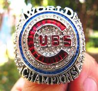 regalos chicago al por mayor-Anillo de Campeonato Mundial de Béisbol de los Cachorros de Chicago 2016 Baez Rizzo Bryant Zobrist Recuerdo Hombres Fan Regalo 2019 al por mayor Envío de la gota