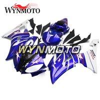 yamaha r6 eksiksiz kaplama kiti toptan satış-Komple Motosiklet Kalafatlama için Yamaha YZF 600 R6 2008-2016 09 10 11 12 13 14 15 ABS Plastik Enjeksiyon motosiklet cowling'ler Brüt Mavi Kiti