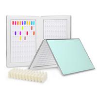 160 Professional Gel Polish Display Card Book Color Board Palette Nail Art Salon Tools Discount With 240pcs False Nail Tips