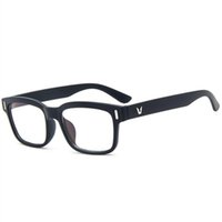 Wholesale anti fatigue computer glasses resale online - High Quality Anti Fatigue Anti Radiation Diopter Glasses Unisex Plain Glass Spectacles Computer Protection Eyewear Frame