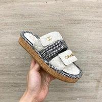 offene zehe sandalen dicke ferse großhandel-2019 schaffell material Damenmode Schuhe Frauen Kreuzgurt Chunky Heel Sandal Starke Hochhackige Flip Flop Offene spitze Sandale Plattform