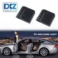 nissan puerta led al por mayor-LED Puerta de coche Bienvenido Proyector láser Logotipo Cortesía Ghost Shadow Light para Nissan BMW fAudi Volkswagen MederzBenz