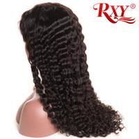 kıvırcık peruk fiyatları toptan satış-Malezya Kıvırcık Dantel Peruk Derin Dalga 360 Tam Dantel İnsan Saç Peruk Bebek Saç Fabrika Toptan Fiyat Ile 360 Dantel Peruk Derin Dalga