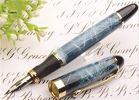 Wholesale fountain pen nibs jinhao resale online - jinhao quality G NIB metal Modified Caneta calligraphy Round Body Flower body English Fountain Pen Stationery Substitute dip pen