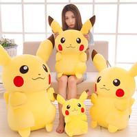 dedektif çizgi filmleri toptan satış-En çok satan Dedektif Pikachu Peluş bebek 20 cm 30 cm 35 cm Pikachu peluş oyuncaklar karikatür Doldurulmuş hayvanlar oyuncaklar yumuşak en iyi Hediyeler