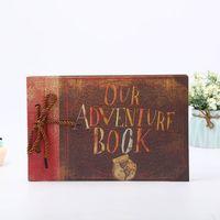 álbuns de fotos diy de casamento venda por atacado-40 Retro Páginas Photo Album DIY criativo DIY Handmade álbum aniversário de casamento Presentes nossa aventura
