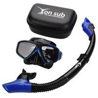 профессиональная маска для глаз оптовых-Yon Sub Professional Diving Mask Snorkel Anti-Fog Goggles Glasses Set Swimming Equipment Snorkel Breathing Tube Eye Protector