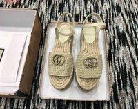 новый модный рынок оптовых-2019 Новый стиль на рынке, женская модная обувь, красочные тканые сандалии, сандалии в стиле рыбака, размер 34-41
