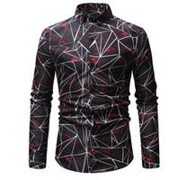 camisa causal do vestuário dos homens venda por atacado-Manga longa Camisa de Vestido Dos Homens 2019 Plus Size 4XL Sólida de Alta Qualidade camisa Sólida Causal Slim Fit Camisas Dos Homens de Negócios Chemise Homme