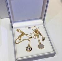 925 silberrohlinge großhandel-Designer RHSE SELESTE Schmuck Halskette 925 Silber Stern Mond Stern Blank Mutter Muschel Gold Halskette Frauen Schmuck