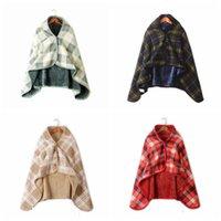 yumuşak kadınlar için moda baskısı toptan satış-Moda Kadın Ekose Battaniyeler Eşarp Yumuşak Kontrol Baskı Çok fonksiyonlu Şal Cloak Erkekler Açık Kış Sıcak Cape TTA1835