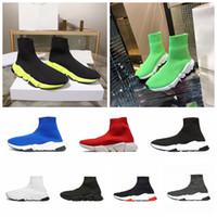 ingrosso scarpe da allenatore scontate-Scarpa da uomo Calzature da uomo di lusso Sneakers Speed Trainer 2019 Sconto Calzature da uomo in maglia Vendita calda Sneakers di moda Designer di lusso nuovo colore