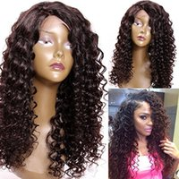 Wholesale brazilian spiral human hair for sale - premierwigs Full Lace Human Hair Wigs Pre plucked Perimeter with Baby Hair Brazilian Hairs Spiral Curly Wigs Natural Hairline With Babyhair