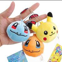 Wholesale balls keychain for sale - Plush Pokemons Keychain Pikachu Key Chain Fur Keyring Elves ball Keyring Johnny Turtle Plush Dolls lol