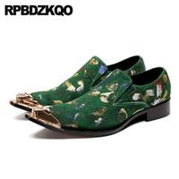 мужская кожаная кожаная обувь оптовых-pointed toe wedding italian 11 metal Italy plus size big chic green men formal suede shoes party real leather  47 dress