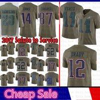 Wholesale salute service jerseys for sale - Men Tom Brady Rob Gronkowski  Salute to Service New fb570af11