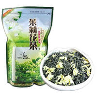 Wholesale chinese tea packaging resale online - Preference g Chinese Organic Jasmine Green Tea Raw Tea New Spring Tea Healthy Green Food Sealing strip packaging