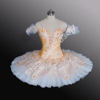 erwachsene schwan kostüm großhandel-Erwachsene orange schwan dress professionelle ballett-ballettröckchen frauen ballett dress vestido bailarina menina mädchen tanzen kostüme b1178