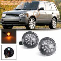 indicador de flujo al por mayor-1 par LED Luz indicadora lateral para Land Range Rover L322 2002-2012 Nueva luz de señalización de marcador lateral que fluye Luz XGB500020A