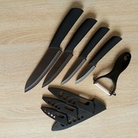 cuchillas de cerámica para uso general al por mayor-Hot New Cool Matt Black Cuchillo de cerámica Peeler Set 3
