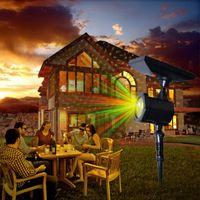 x lumière laser achat en gros de-Lumière solaire solaire Statique Flash Star Dots 5 Modes Paysage Lumière Étanche Fée Laser Lumière Projecteur Pour X-ms Jardin En Plein Air